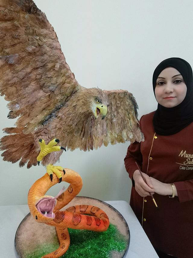 Eagle and Snake Cake