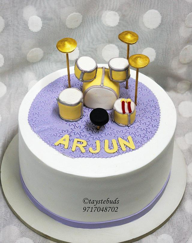 Pleasing Drum Set Cake Cake By Taystebuds Cakesdecor Funny Birthday Cards Online Bapapcheapnameinfo