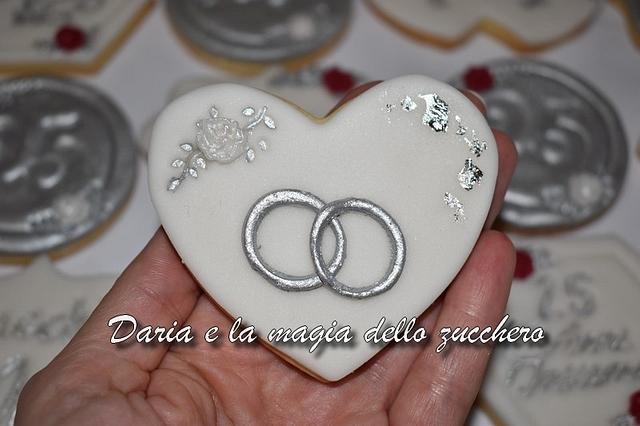 25 wedding anniversary cookies