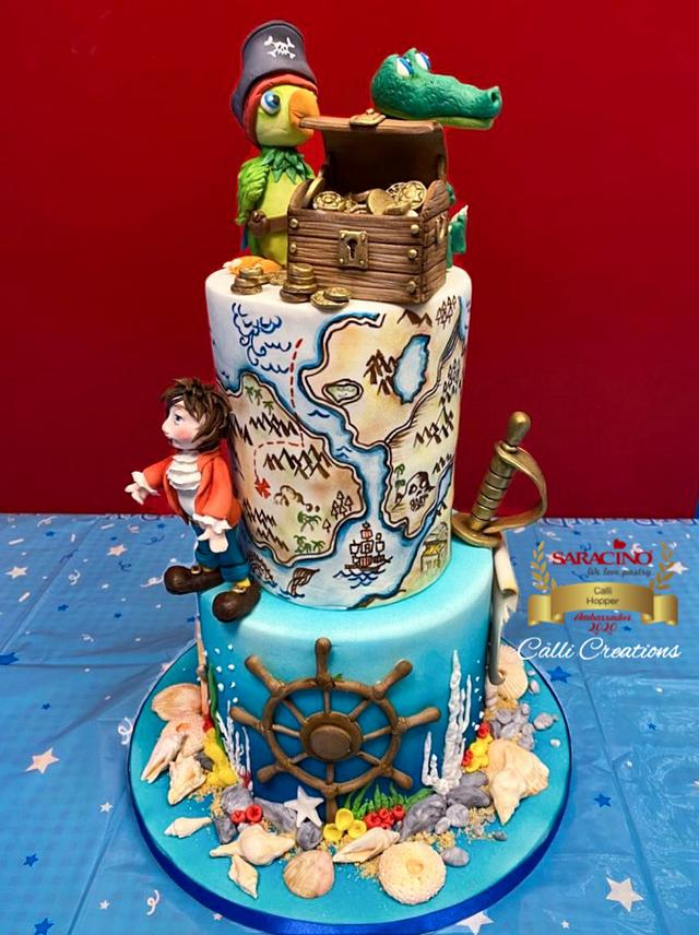 Fabulous Pirate Birthday Cake Cake By Calli Creations Cakesdecor Funny Birthday Cards Online Alyptdamsfinfo