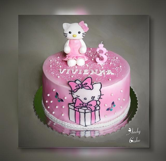 Cool Hello Kitty Birthday Cake Cake By Andycake Cakesdecor Personalised Birthday Cards Paralily Jamesorg