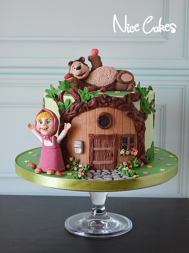 Masha and bear birthday cake