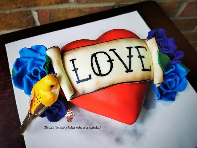 Valentine's Heart Cake