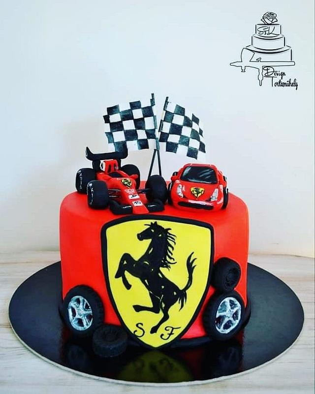Ferrari Cake By Krisztina Szalaba Cakesdecor