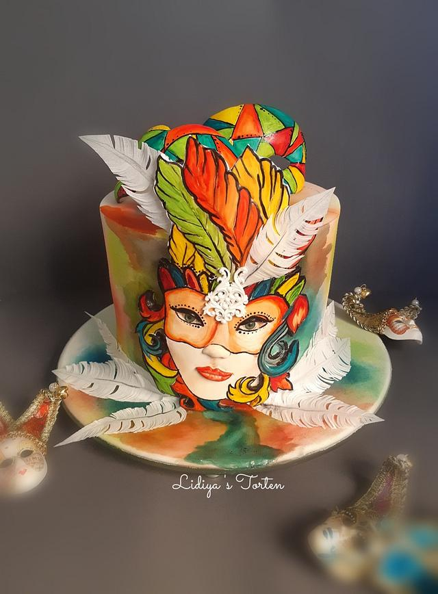 Venice hand painted cake