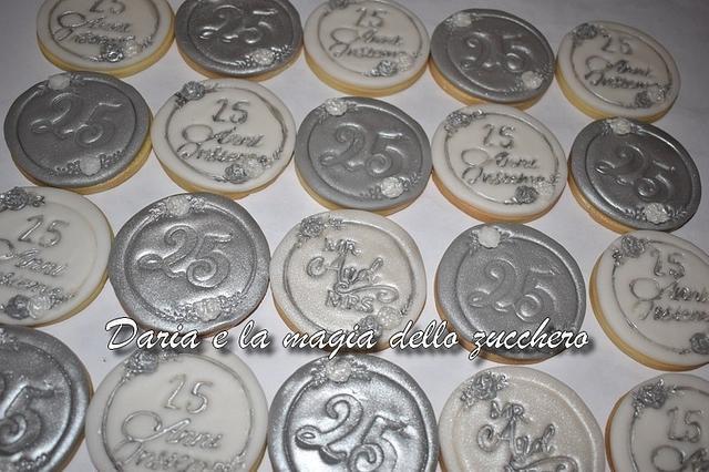 25°anniversary wedding cookies
