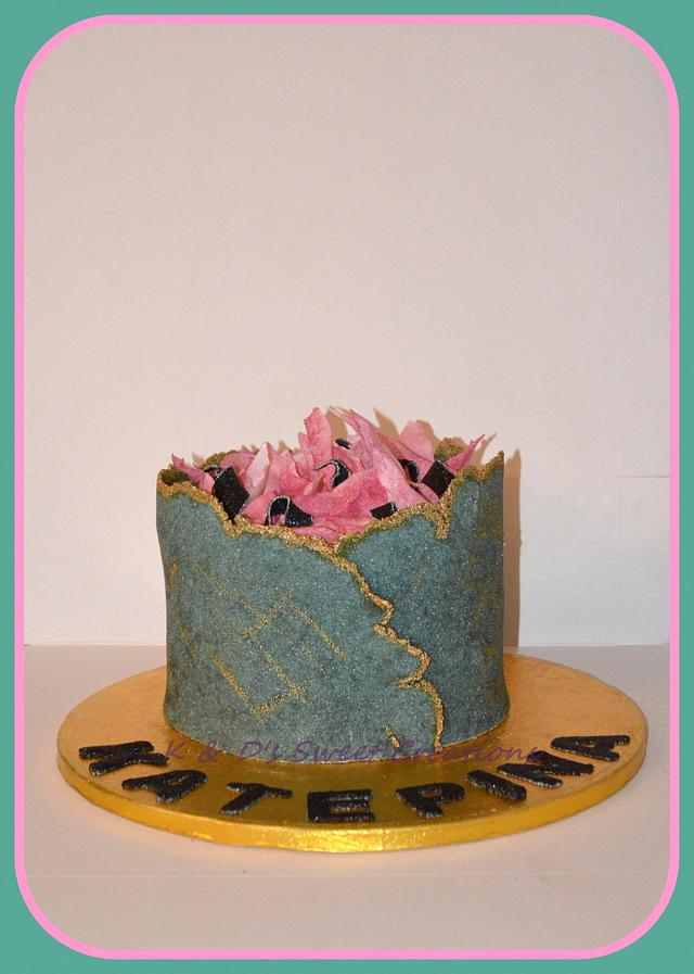 Marvelous Sugar Sheet Technique Birthday Cake Cake By Konstantina Cakesdecor Funny Birthday Cards Online Bapapcheapnameinfo
