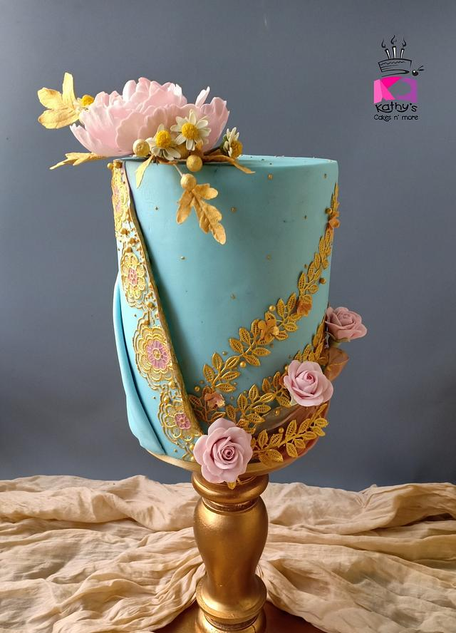Couture Cakers 2020 Hizab wedding dress inspired cake