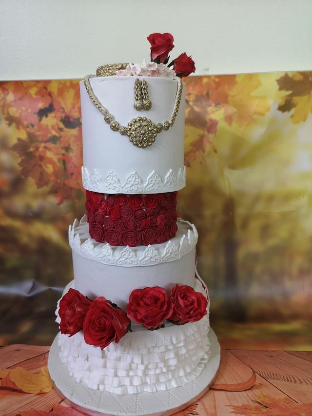 Indian Wedding Theme Cake