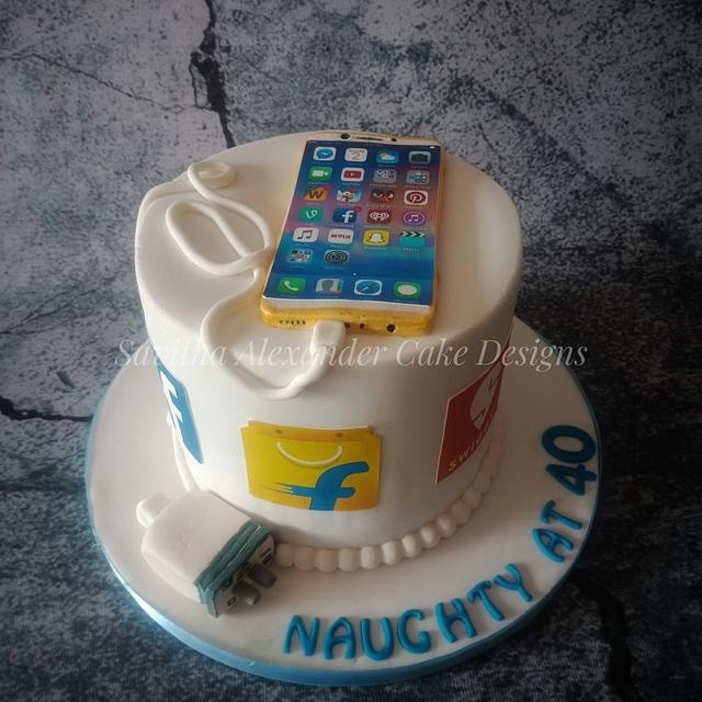 Smart phone cake