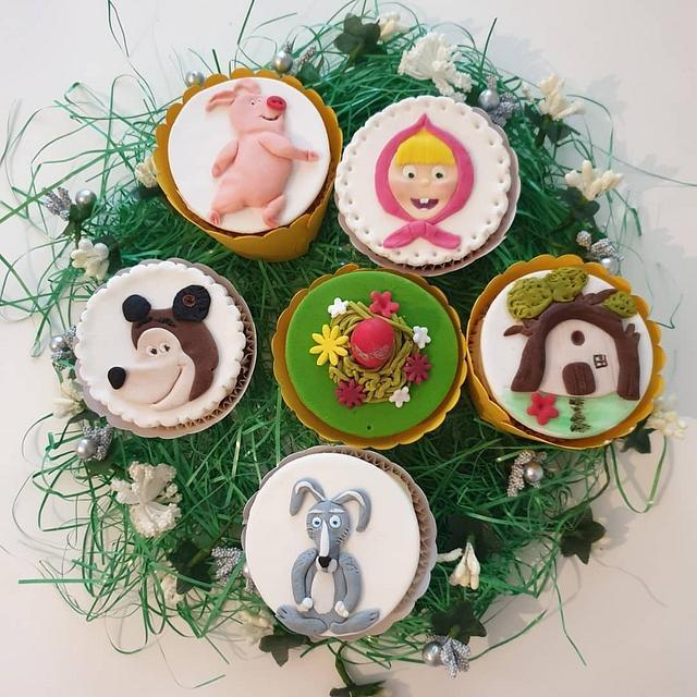 Masha And The Bear muffins