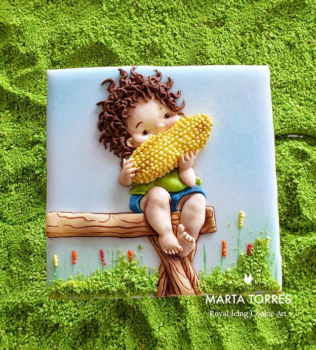 Corn boy..... Learning social distance!