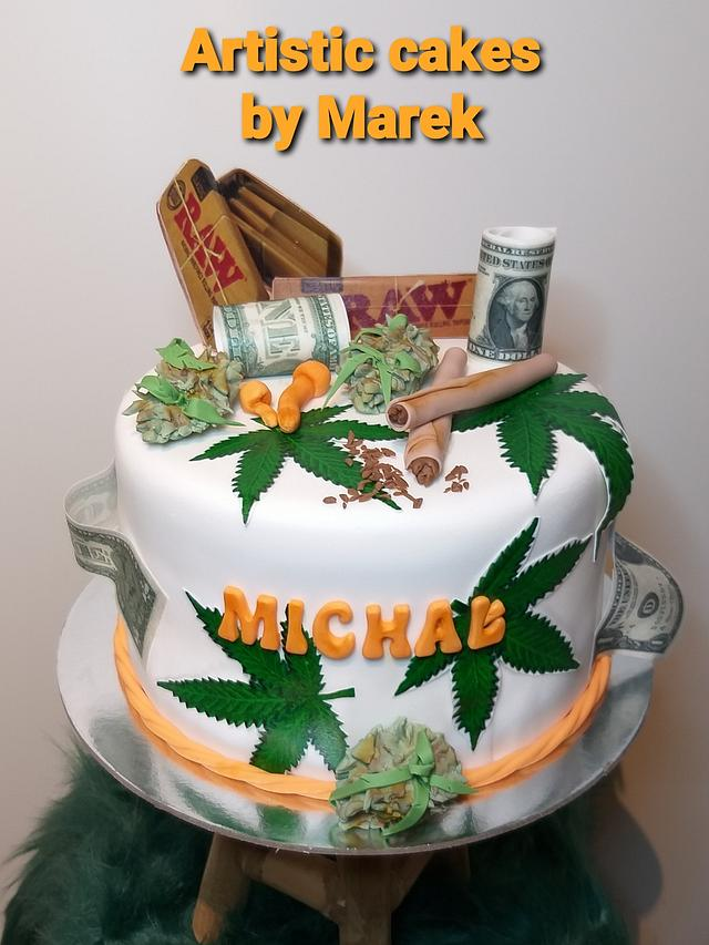 Super Cannabis Cake Cake By Marek Cakesdecor Personalised Birthday Cards Veneteletsinfo