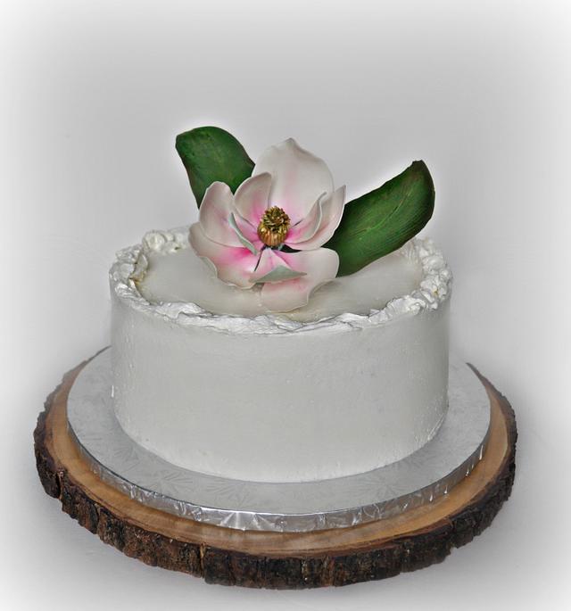 Elderflower-Lemon Cake with Magnolia