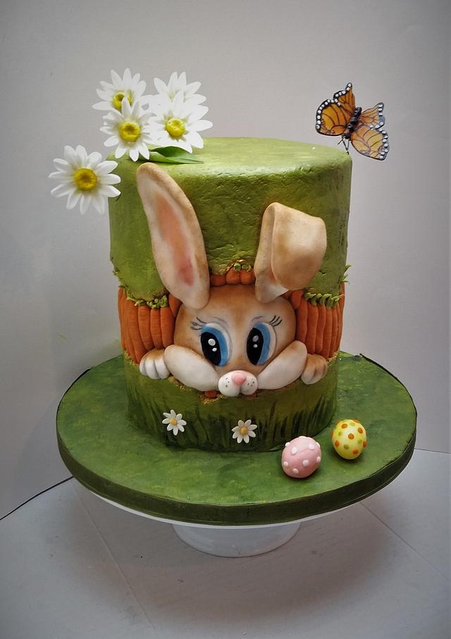 Easter bunny fault line cake