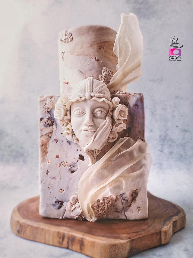 Art Nouveau Lady in Marble