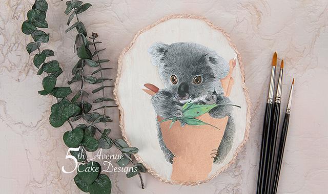 Dimensional Watercolor Baby Koala Cookie Art 🐨