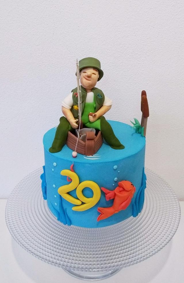 Outstanding Fisherman Cake Cake By Clara Cakesdecor Funny Birthday Cards Online Alyptdamsfinfo