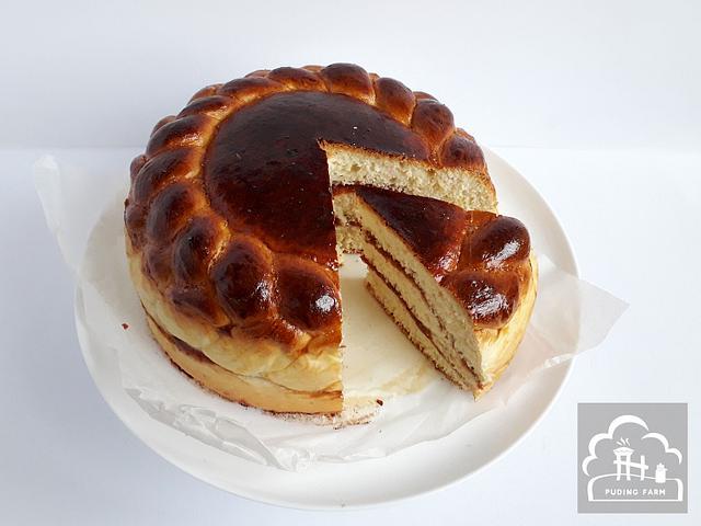 Braided Sweet Milk Bread Cake