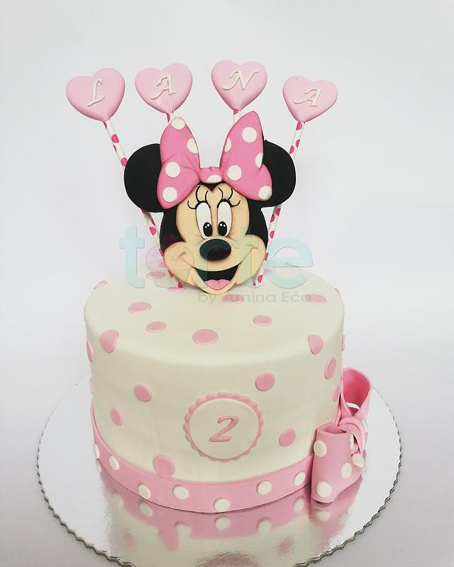 Awesome Lanas Minnie Mouse Birthday Cake Cake By Torte By Cakesdecor Funny Birthday Cards Online Bapapcheapnameinfo