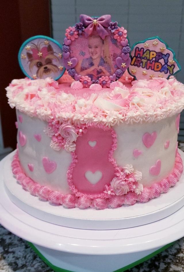 Peachy Jojo Themed 8Th Birthday Cake Cake By Cakesdecor Funny Birthday Cards Online Benoljebrpdamsfinfo