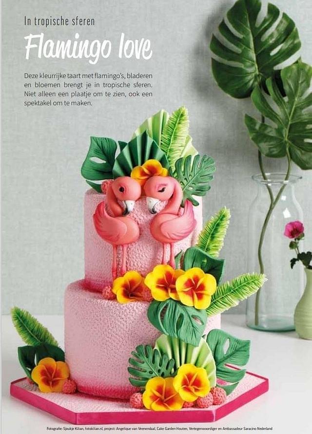 Flamingo Love cake
