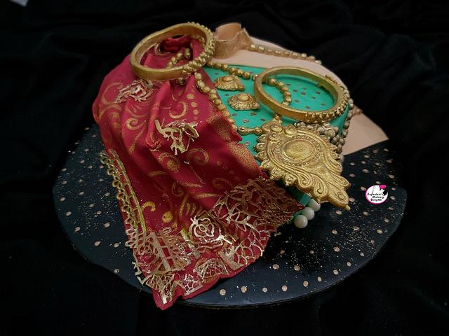 Traditional Indian Wedding Theme Cake