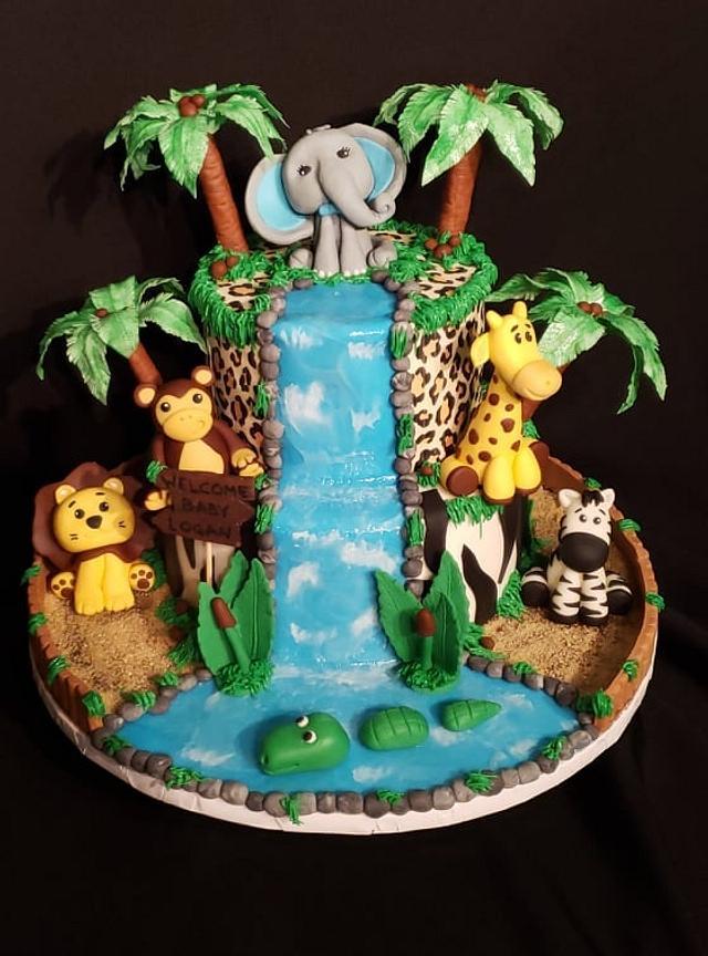 Jungle Themed Cake