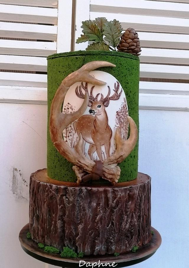 Deer - jubilee cake for the hunter