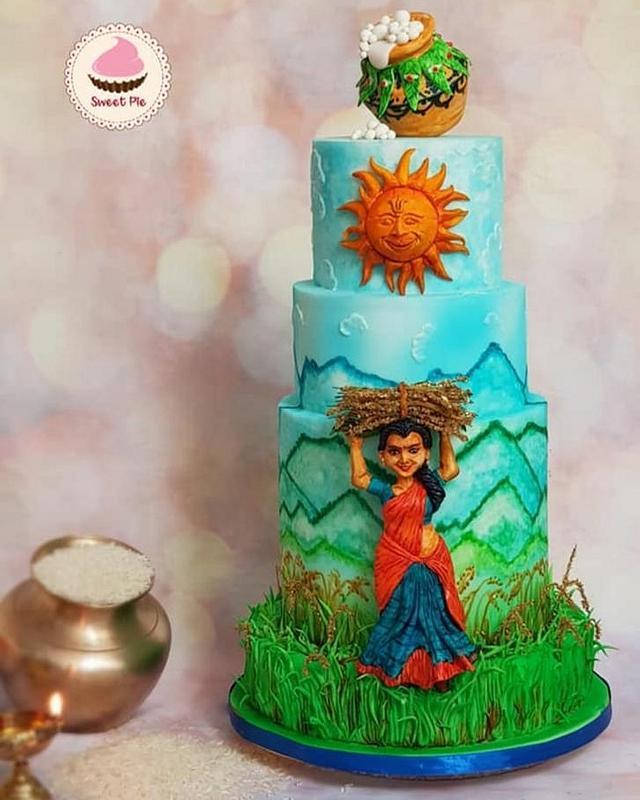 Harvest festival (pongal) theme cake