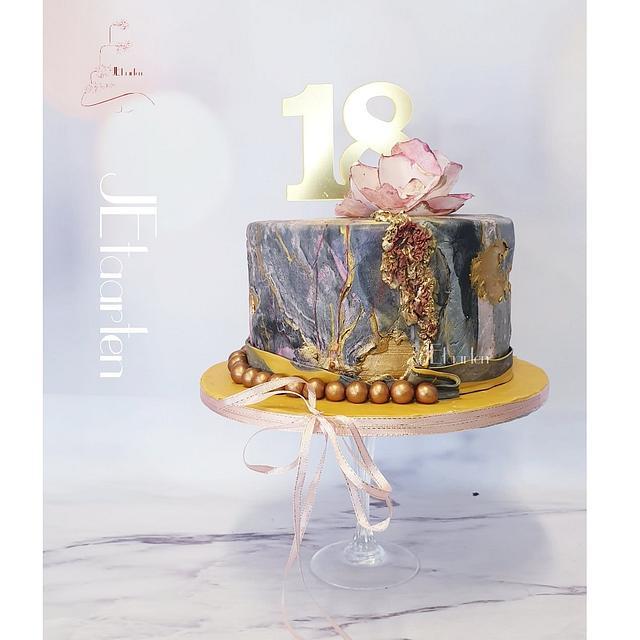 Marble-granito cake sweet 18