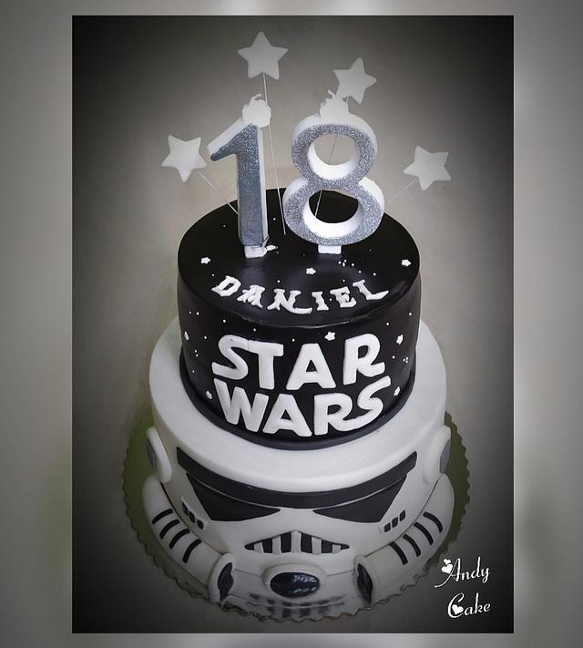 Tremendous Starwars Cake Cake By Andycake Cakesdecor Funny Birthday Cards Online Hetedamsfinfo