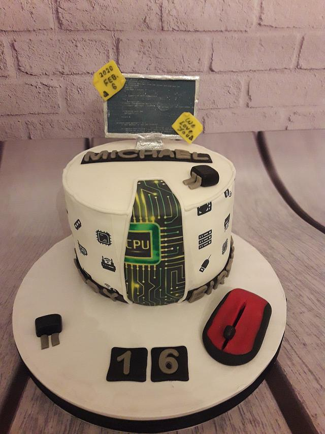 Excellent Promising Computer Engineer Cake Cake By Noha Sami Cakesdecor Funny Birthday Cards Online Amentibdeldamsfinfo