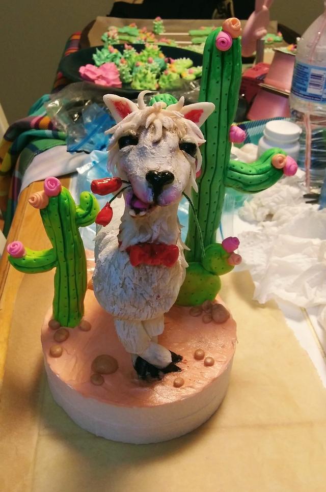 Llama engagement Cake
