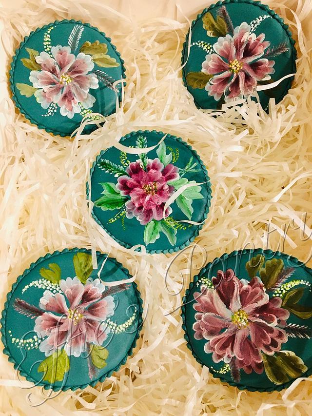 Floral cookie set