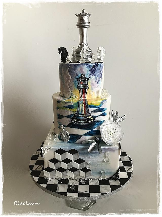 Hand painted - chess themed :)
