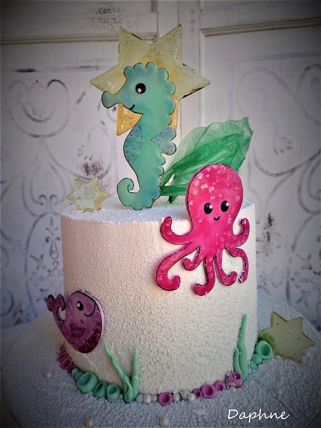Summer baby cake ❤️💜💚