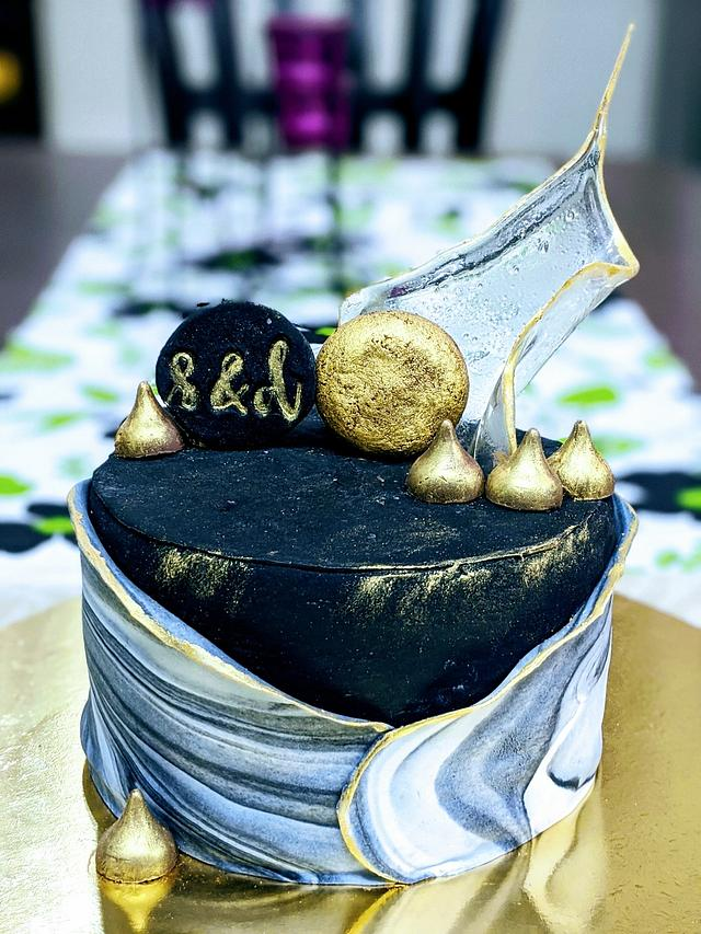 Our tin anniversary cake