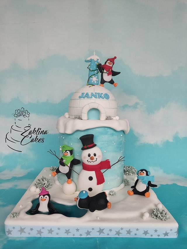 Pinguin Cake