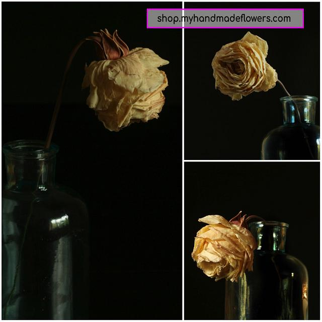 Faded Rose Flower ( Made with FR Veiner )