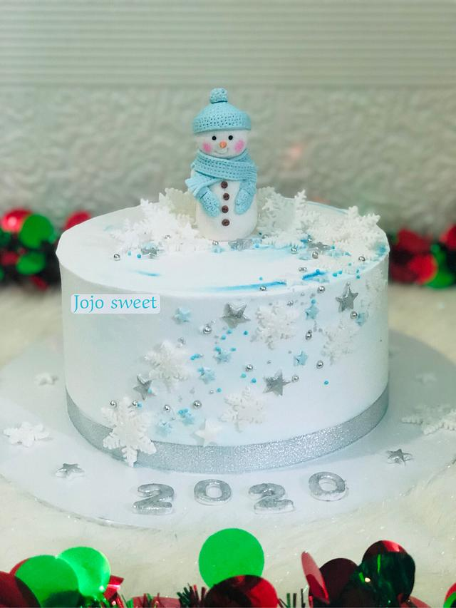 Snowman ⛄️ with snowflakes ❄️