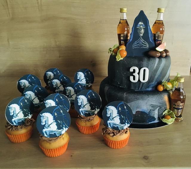Discworld Death cake