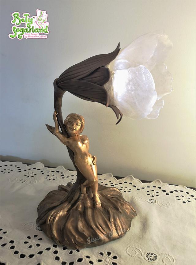Sugar Lamp - Art Nouveau Meets Cake Artist