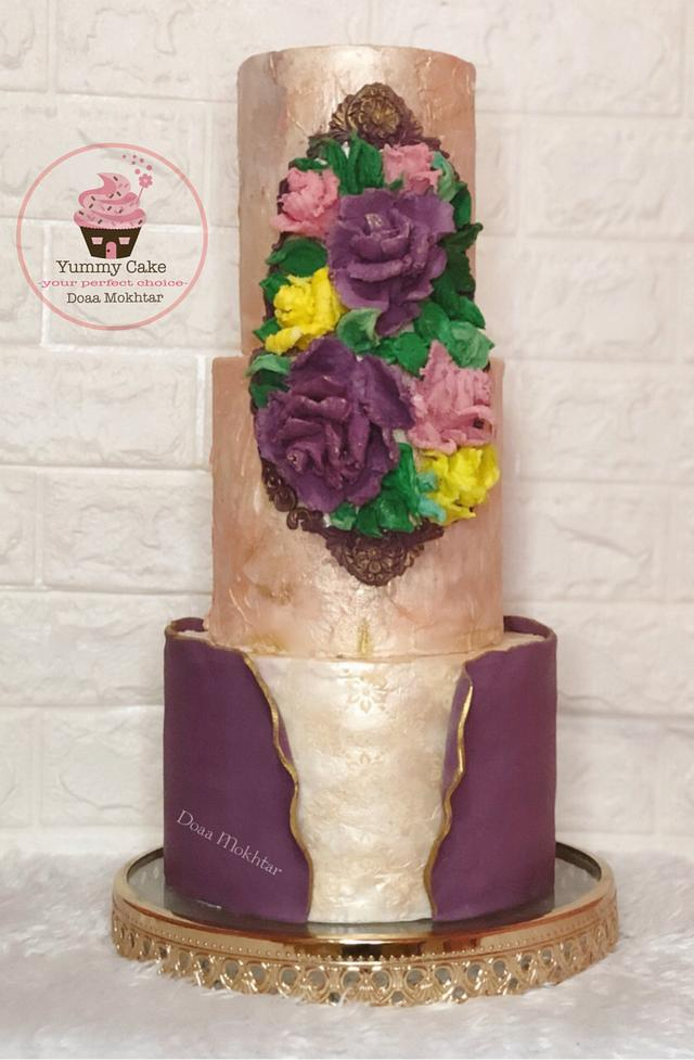 Palette sculpted knife ganache flowers
