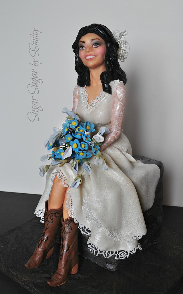 Bride in Cowboy Boots - Couture Cakers Int. 2019