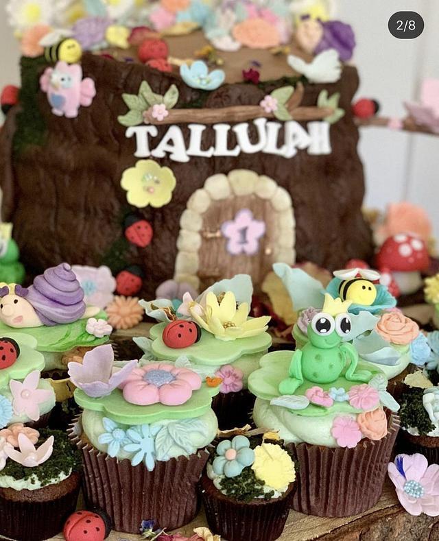 1st Birthday Flutterbug Forest Cake