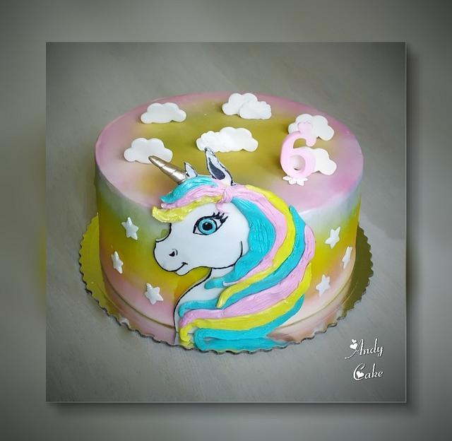 Awe Inspiring Unicorn Birthday Cake Cake By Andycake Cakesdecor Funny Birthday Cards Online Unhofree Goldxyz