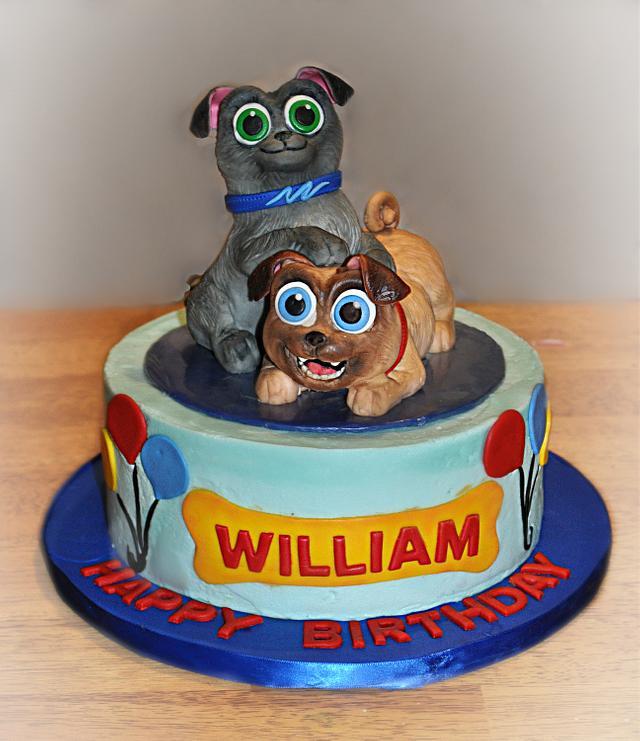 Puppy Dog Pals Icing Smiles Cake