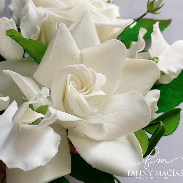 Centro de mesa floral de azúcar
