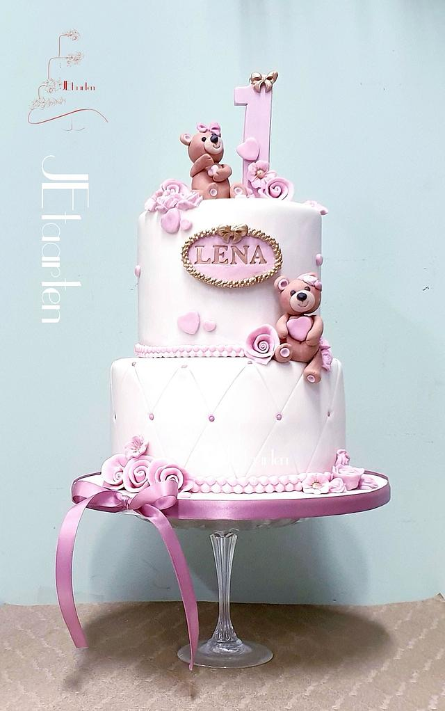 Excellent First Birthday Cake Cake By Judith Jetaarten Cakesdecor Personalised Birthday Cards Rectzonderlifede